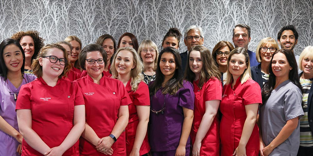 picture of all staff members at lister house dental practice